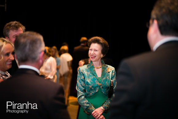 Princess Anne talking to guests at Charity event in London