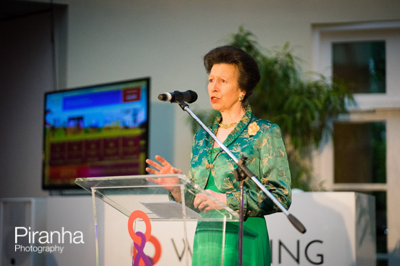 Princess Anne speaking in London at Charity evening