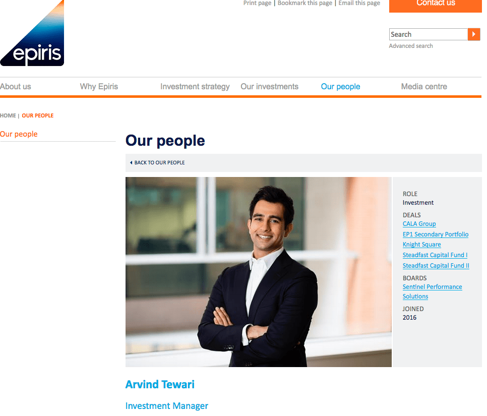 Photograph of Investment Manager - shown on Company Website