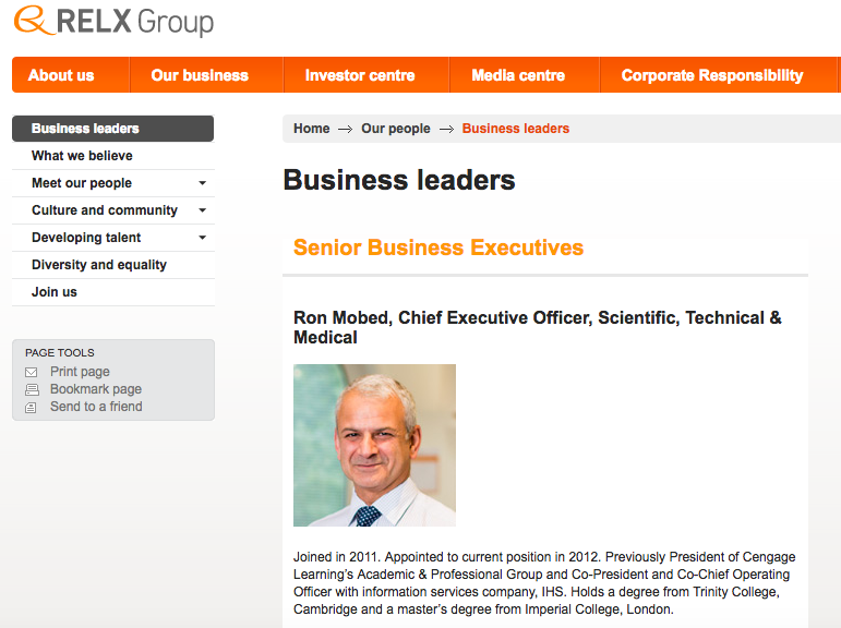 Head shot of Director on Corporate Company Website - CEO