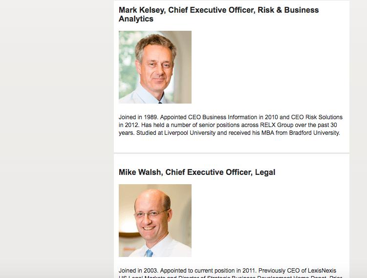 Head shots of Directors on Website taken in London
