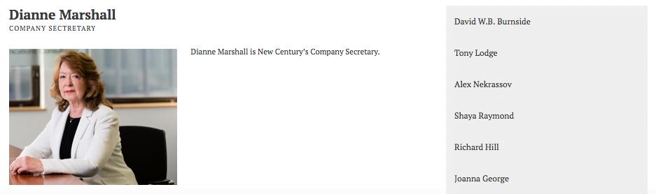 Photograph of company secretary for website