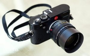 Photograph of Leica camera with Noctilux lens