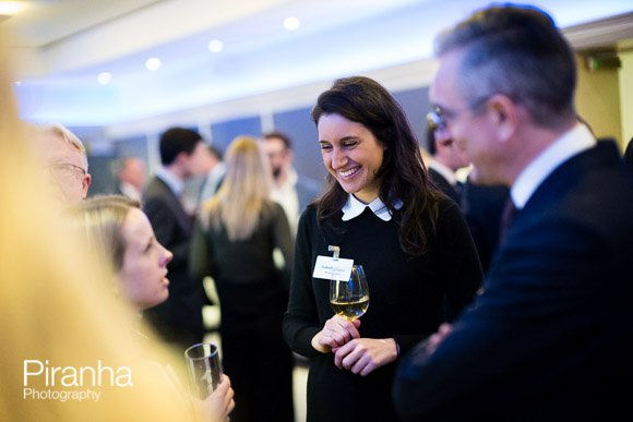 Guests enjoying corporate event at Glazier Hall in London