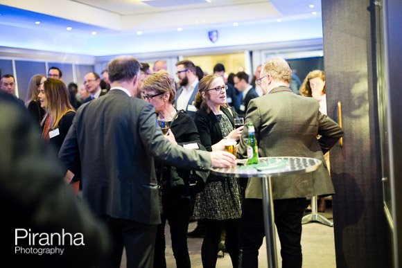 Guests at drinks reception in Glazier Hall London