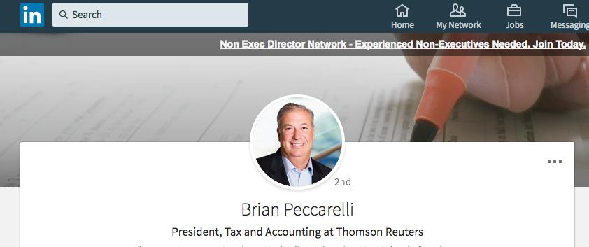 Company president head shot on LinkedIn - Photograph taken by Piranha Photography