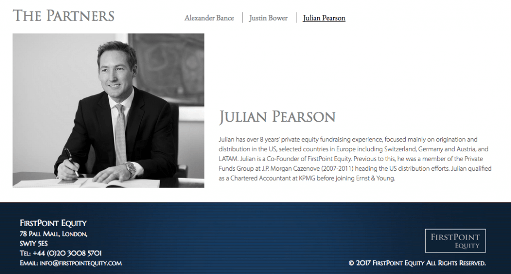 Photography of Private Equity Company Partner for use on Website - Black and white shot