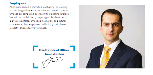 Financial Officer's portrait in the annual report - at the end of his statement
