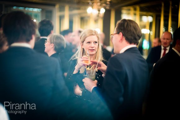 Drinks reception at law firms evening event in london