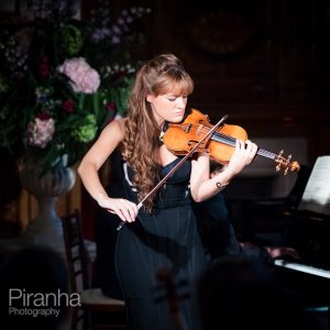 Nicola Benedetti playing the violin at Two Temple Place in London