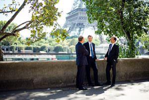 Photograph of Senior Management in Paris