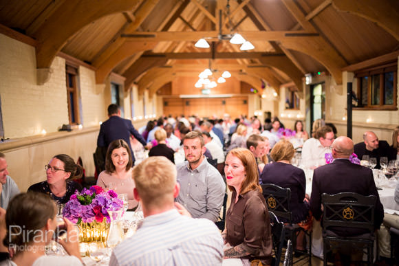 Guests seated pictured during dinner