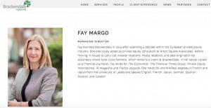 Employee headshots on company website