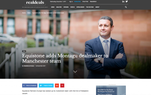 Real Deals article about Equistone Manchester