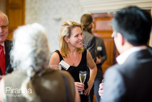 Guests networking at London Law Event for Australian University