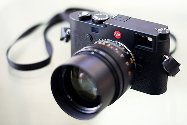 Photograph of new Leica M10 Camera with Noctilux lens
