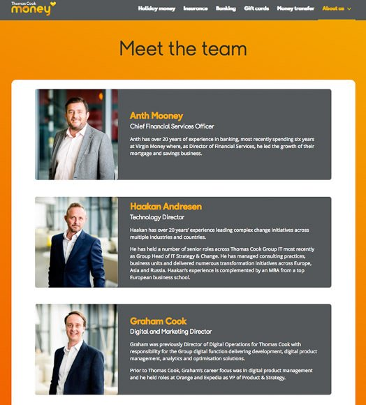Photographs of team taken in London offices for company website