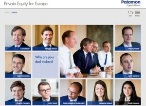 Web Page showing portraits on Private Equity Company Web Page