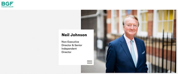 Business portrait on website