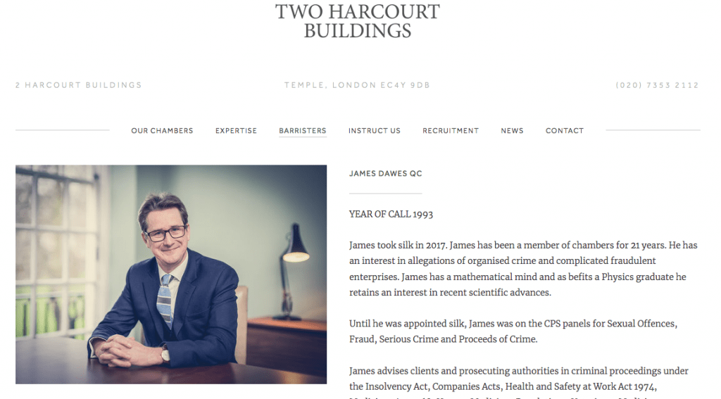 Barristers portrait on new website