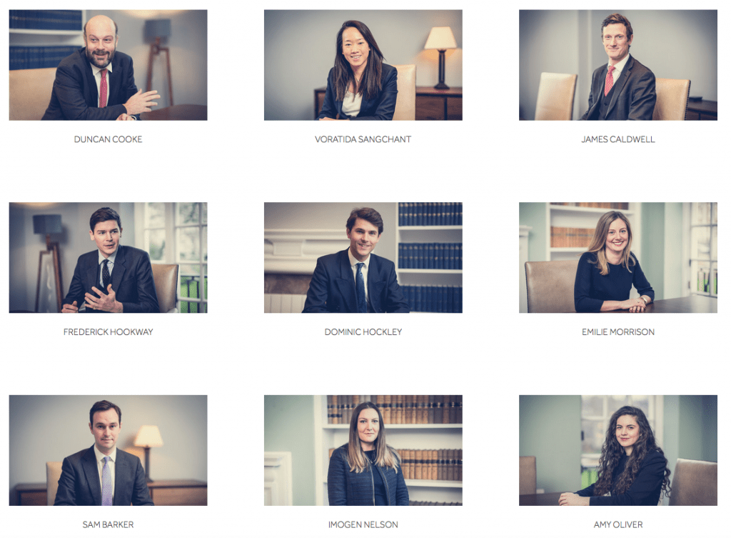 Portrait photography of barristers for new website