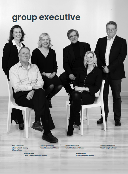 Executive board photographed together - full length