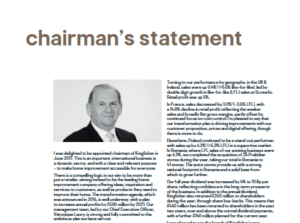 Screen grab from Annual Report showing Chairman's photograph