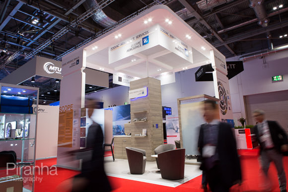Photograph of full booth at Excel to show look and feel for design agency