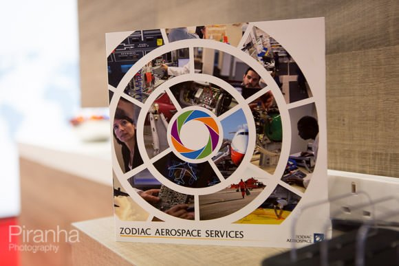 Photography of booth at Excel with brochure