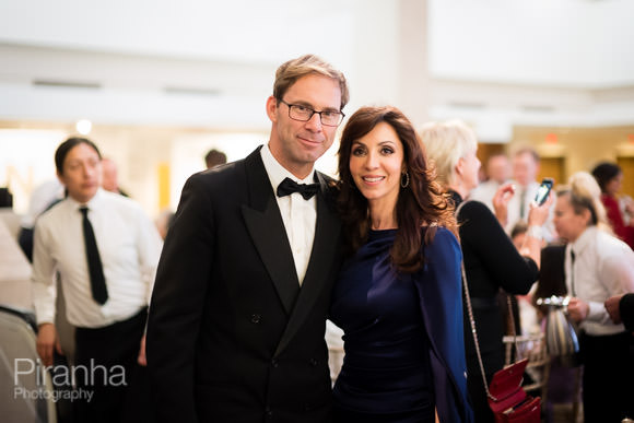 Photography of guests at evening event in London