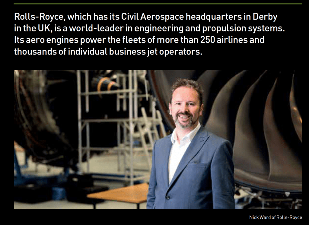 Photograph taken at Rolls Royce for Annual Report case study.