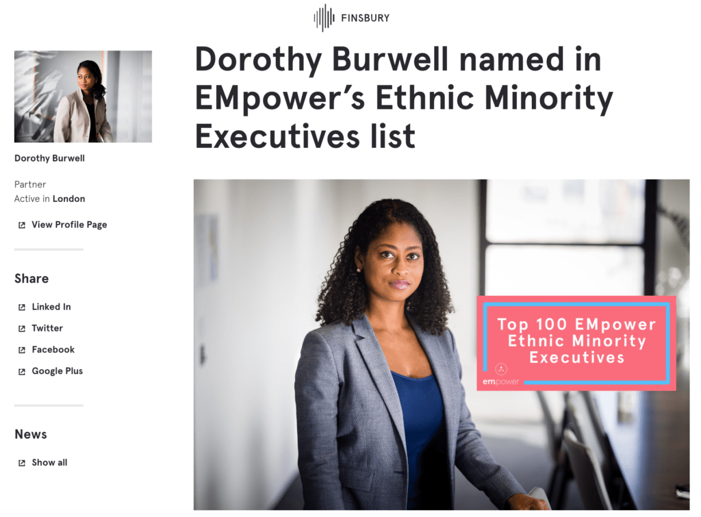 Portrait of Partner named in FT's Ethnic Minority Executives list