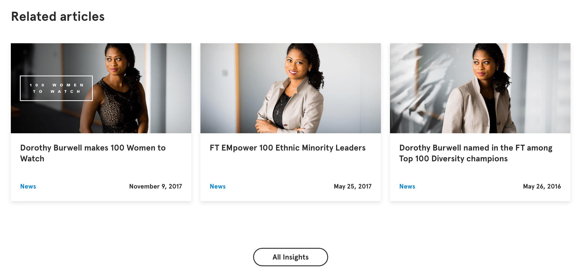 Corporate portraits of PR Partner on website