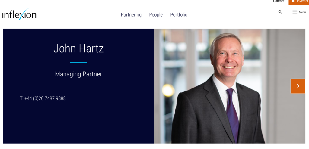 Photograph of Managing Partner on new website