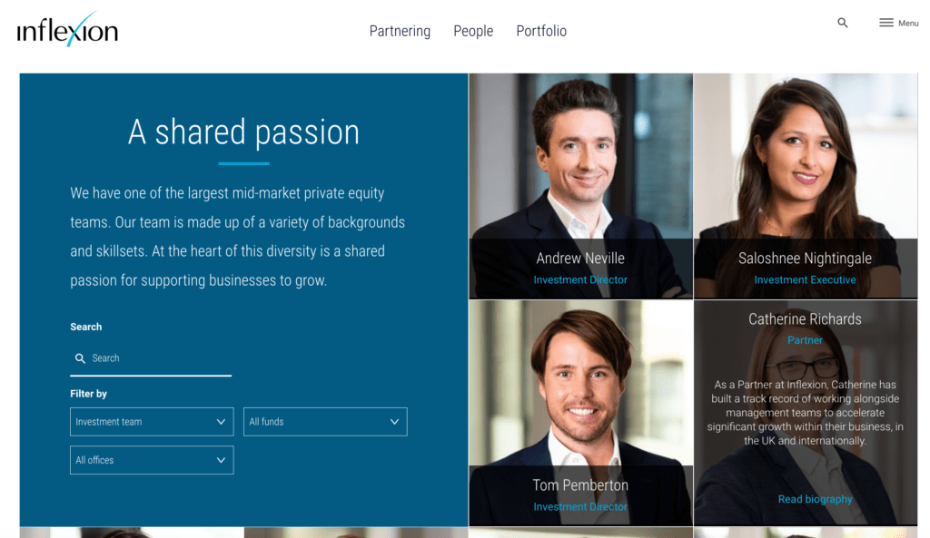 New website portraits for private equity company website
