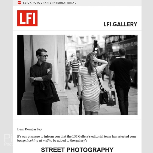 Street Photograph featured on Leica's website in black and white
