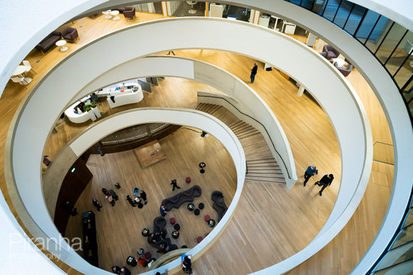Spiral staircase Blavatnik School of Government Oxford