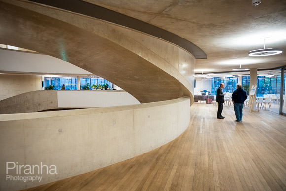 Interior shot of Blavatnik School of Government in Oxford