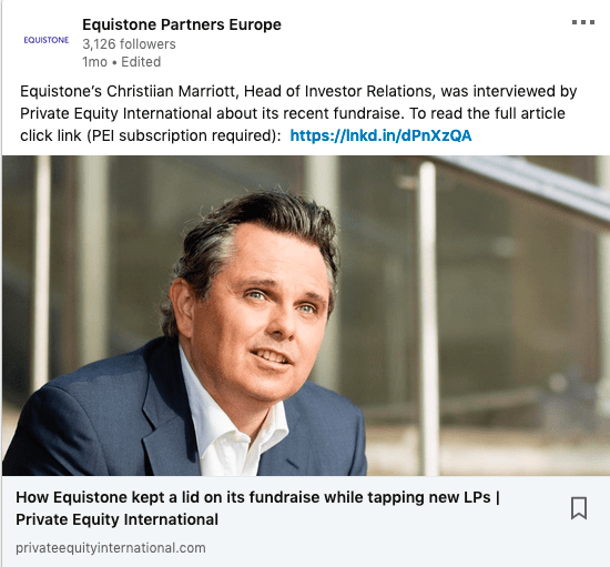 Portrait illustrating article in Private Equity International Publication
