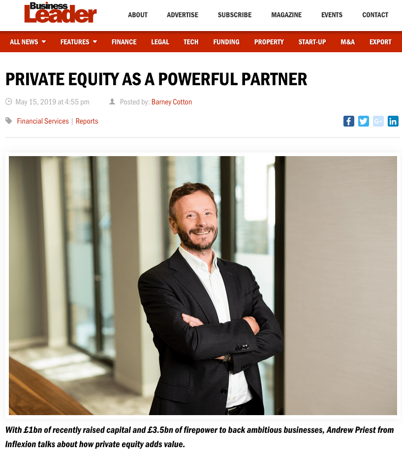 Portrait appearing in business magazine