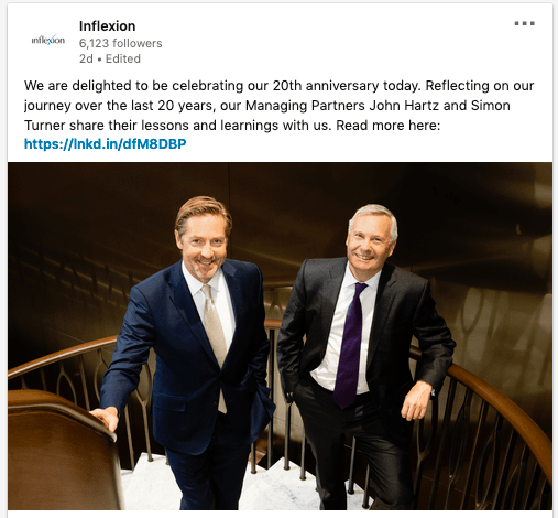 Partners photographed by Piranha - LinkedIn update