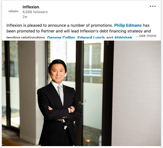 Portrait of PE executive on LinkedIn