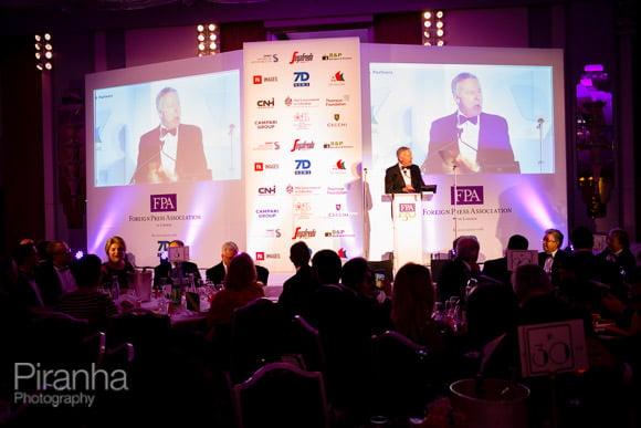 Awards speaker during evening