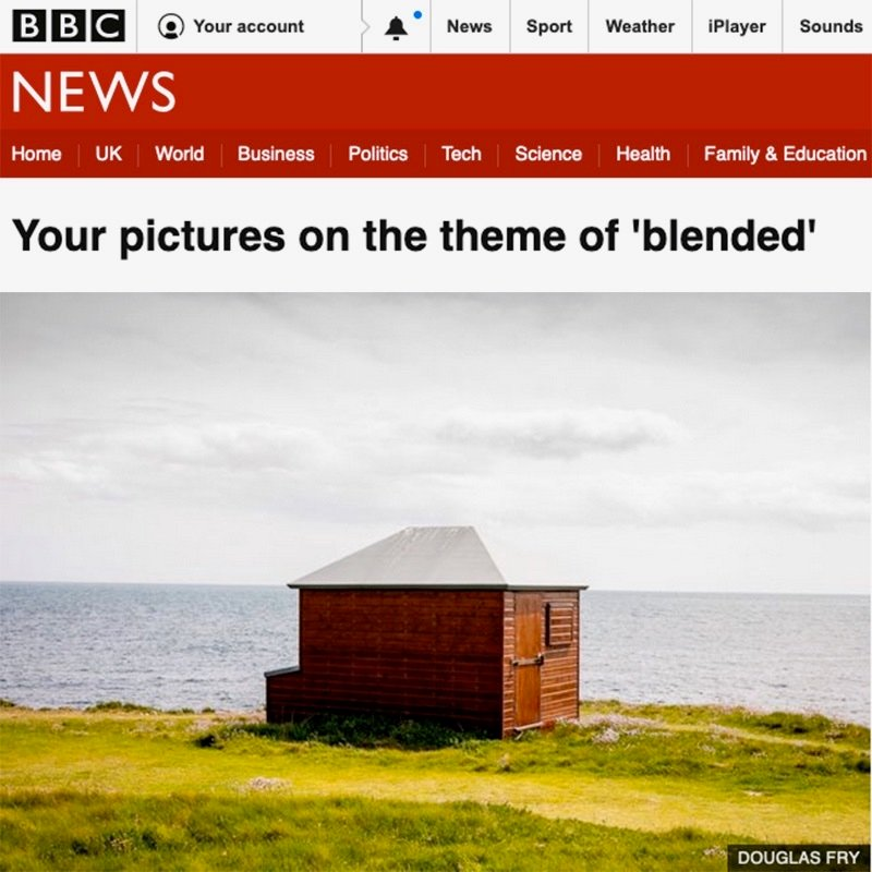 Beach hut photographed and supplied to BBC for 'Blended' story
