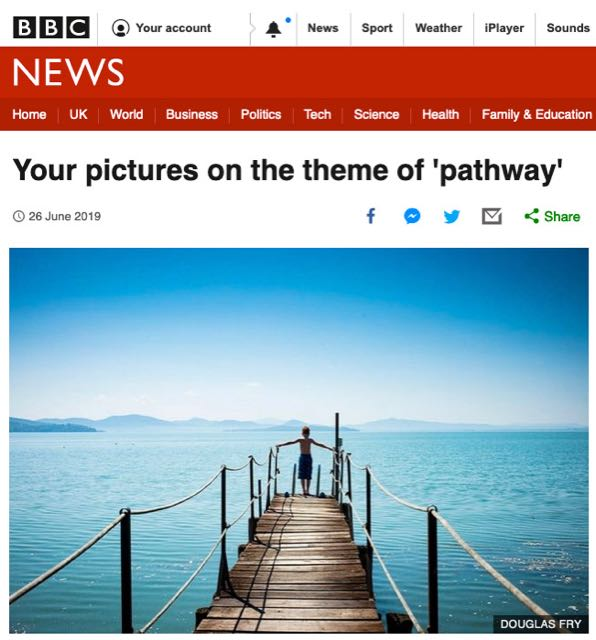 Photograph taken in Italy of lake featuring on BBC website