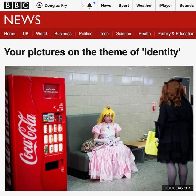 Photograph taken at ComicCon on the theme of identity featuring on BBC website