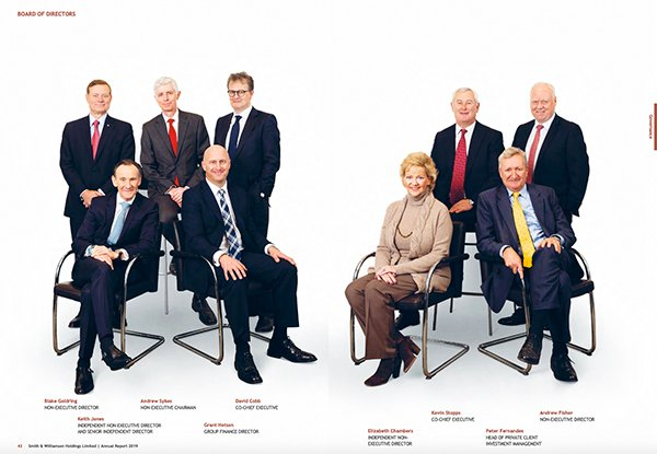 Board photography for company's annual report - group shot