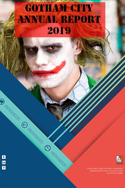 Annual Report Front Cover Mockup with portrait