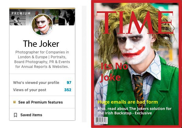 Time magazine and LinkedIn Mockup with portrait
