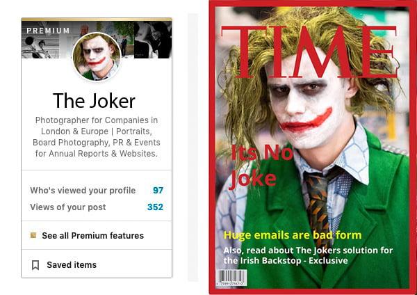 Time magazine and LinkedIn Mockup with portrait